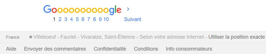 Analyse des résultats d'une requête sur Google