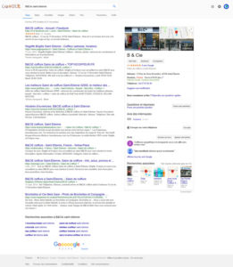 Sur le web, Page Google My Business de B & Cie