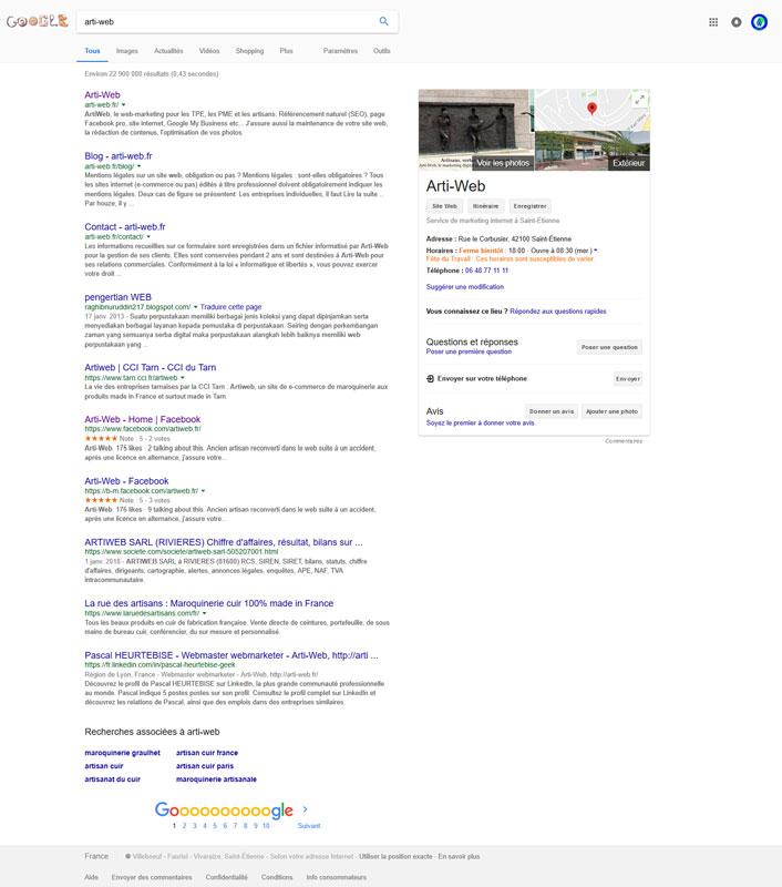Recherche d'entreprise sur le web avec Google